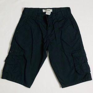 Chams boys black cargo shorts size 14